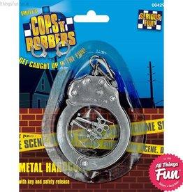 Smiffys Silver Metal Handcuffs