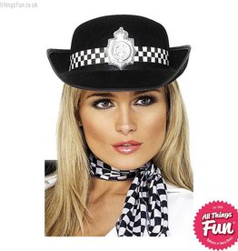 Smiffys Policewomans Hat with Badge