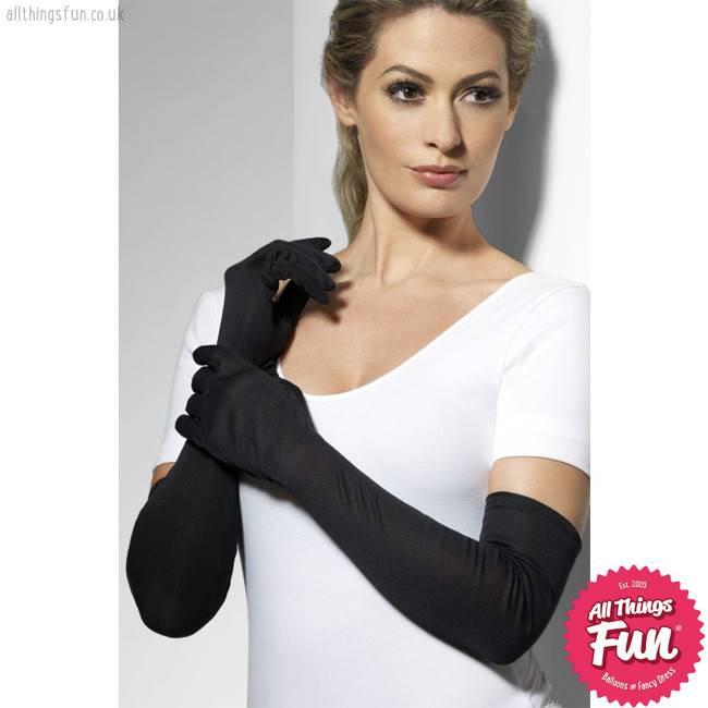 Smiffys Long Black Gloves