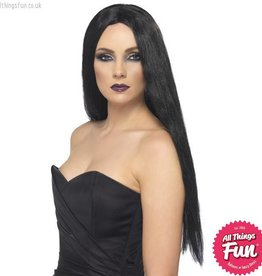 Smiffys Black Witch Wig
