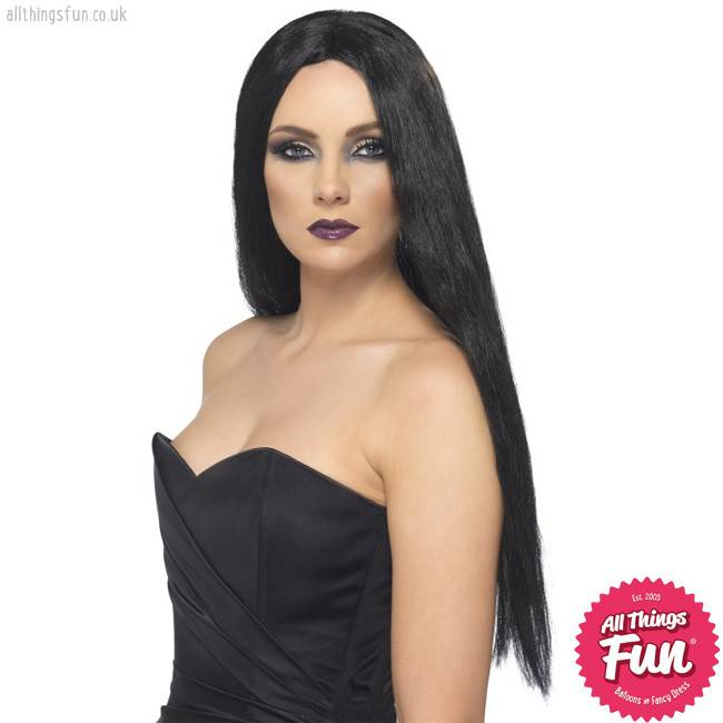 Smiffys Black Witch Wig