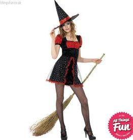 Smiffys *DISC* Teen Star Witch Costume