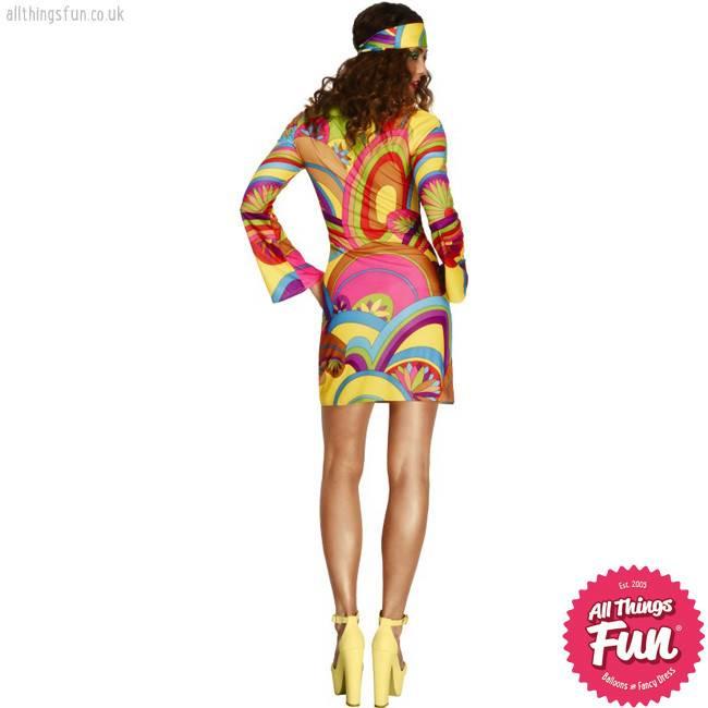 Smiffys Fever 70's Flower Power Costume