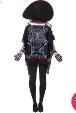 Smiffys Day of the Dead Bandit Costume One Size