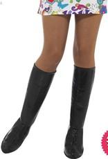Smiffys GoGo Black Boot Covers