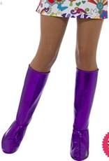 Smiffys GoGo Purple Boot Covers