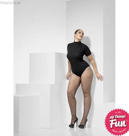Smiffys Extra Large Black Lattice Net Tights