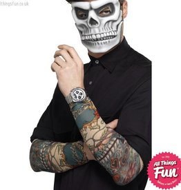 Smiffys Day of the Dead Tattoo Sleeves
