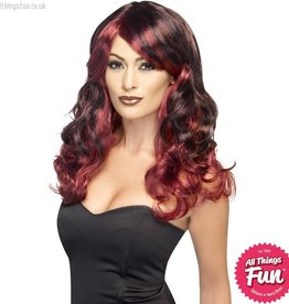 Smiffys Ombre Red & Black Devilish Wig