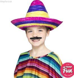 Smiffys Multi Coloured Sombrero Hat