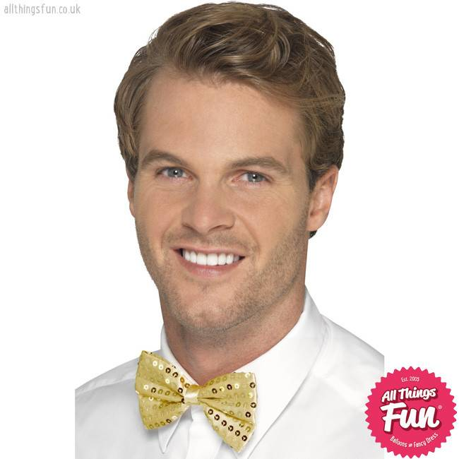 Smiffys Gold Sequin Bow Tie