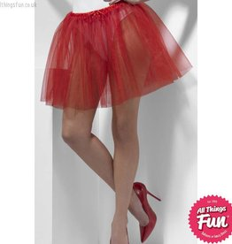 Smiffys Red Petticoat Underskirt, 2 Layers, Longer Length 34cm