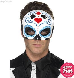 Smiffys *DISC* Day of the Dead Blue Eyemask