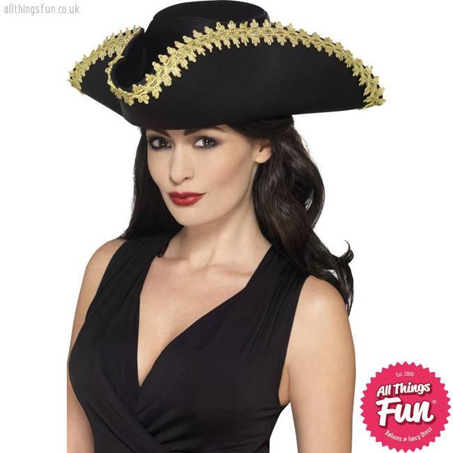 Smiffys Black Pirate Hat