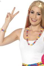 Smiffys Hippie Multi Coloured Peace Sign Set