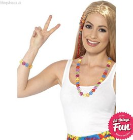 Smiffys Hippie Multi Coloured Peace Sign Set