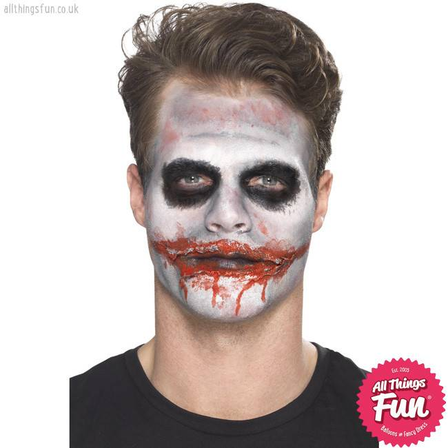 Smiffys Deadly Clown Make-Up Kit, with Transfer Tattoo