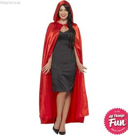 Smiffys Red Hooded Cape