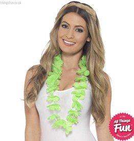 Smiffys Hawaiian Neon Green Lei