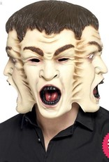 Smiffys 3 Face Overhead Latex Mask
