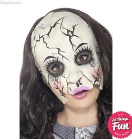 Smiffys Damaged Doll Half Face Mask
