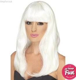 Smiffys Glow in the Dark Glam Party Wig