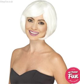 Smiffys Glow in the Dark Bob Party Wig
