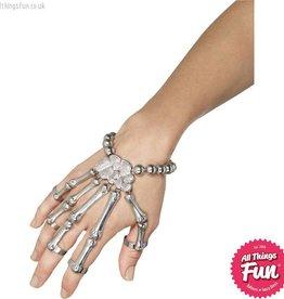Smiffys Silver Skeleton Hand Bracelet