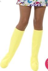 Smiffys GoGo Yellow Boot Covers