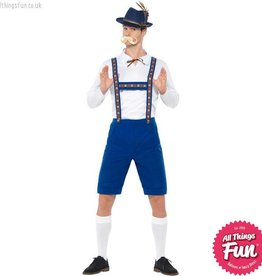 Smiffys Blue Bavarian Costume