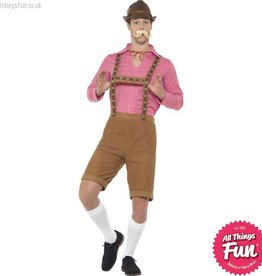 Smiffys Red & Brown Mr Bavarian Costume