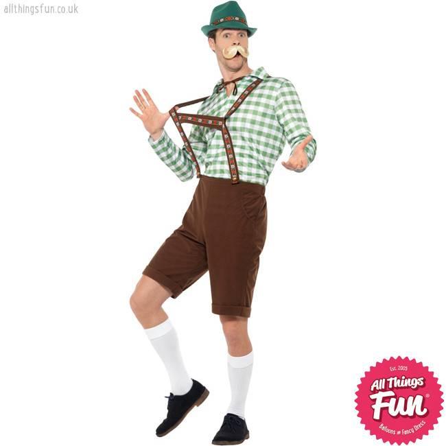 Smiffys Alpine Bavarian Costume, Green & Brown