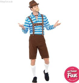 Smiffys Blue & Brown Bavarian Beer Man Costume