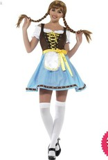 Smiffys Olga Blue & White Bavarian Costume