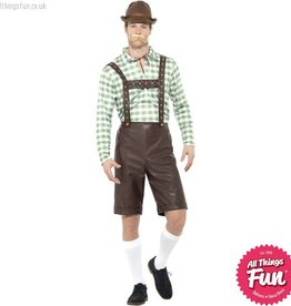 Smiffys Green & Brown Bavarian Man Costume