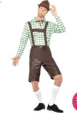 Smiffys Green & Brown Bavarian Man Costume