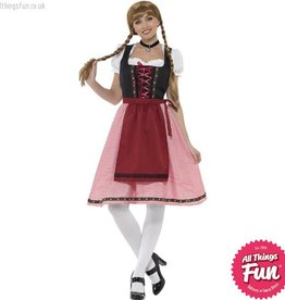 Smiffys Red & Black Bavarian Tavern Maid Costume