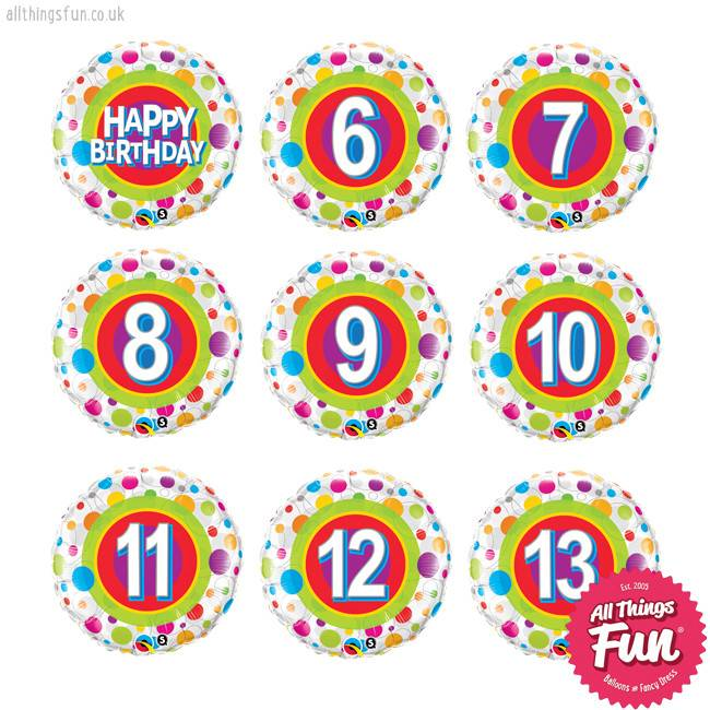 All Things Fun Colourful Dots Birthday Classic (Ages 6 to 13)