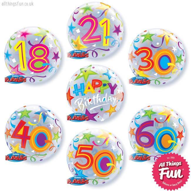 Birthday Brilliant Stars Age Bubble Luxury