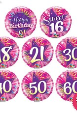 Birthday Shining Star Pink Mini (Ages 16 to 60)