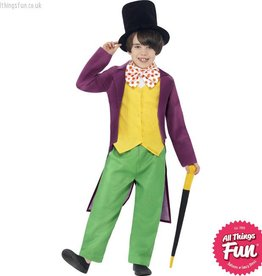 Smiffys Roald Dahl Childs Willy Wonka Costume