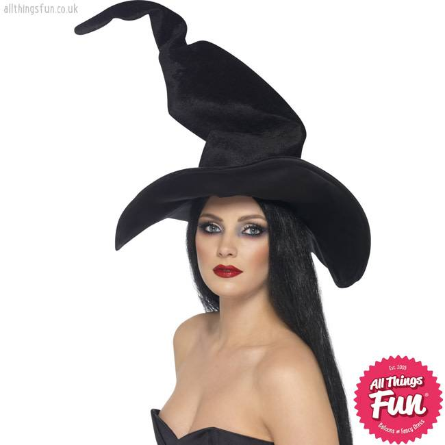Smiffys Black Tall & Twisty Witch's Hat