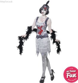 Smiffys Zombie Flapper Dress Medium