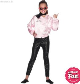 Smiffys Child's Grease Pink Ladies Jacket
