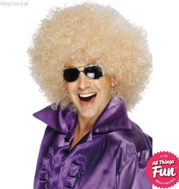 Smiffys Blonde Mega Huge Afro Wig