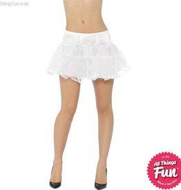 Smiffys White Tulle Petticoat