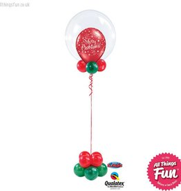 All Things Fun Christmas Celebration 20 inch Double Bubble Design