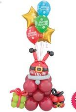 Santa stuck in the Chimney balloon design