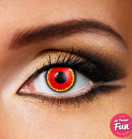 Funky Vision Red Vampire Cosmetic Lens - 90 Day