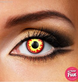 Funky Vision Flame Cosmetic Lens - 90 Day